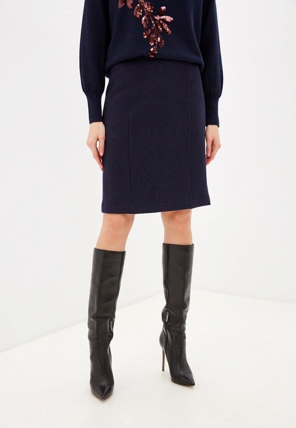 женская прямые юбка laurel, синяя