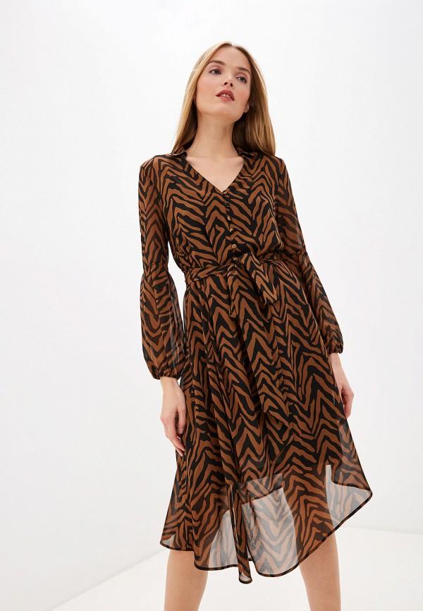 женское повседневные платье laurel, коричневое