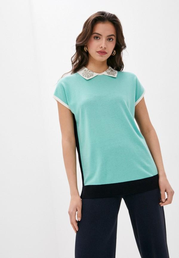 женская блузка laurel, бирюзовая