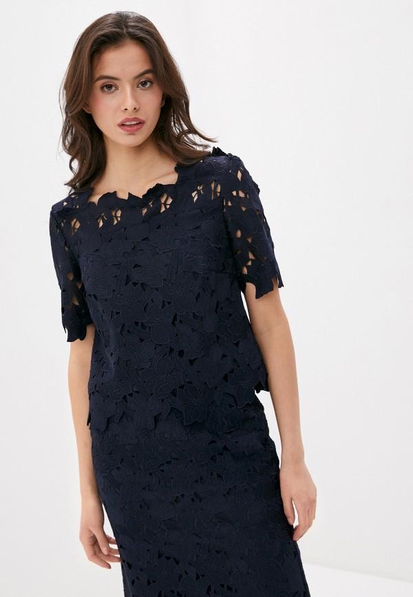 женская блузка laurel, синяя