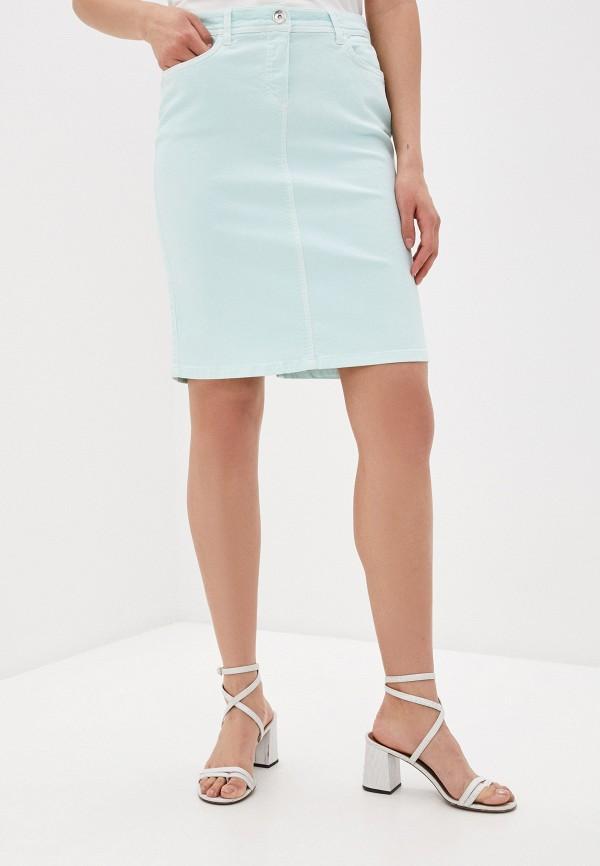 женская джинсовые юбка laurel, голубая
