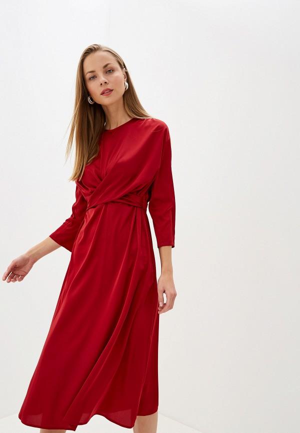 женское вечерние платье l'autre chose, бордовое