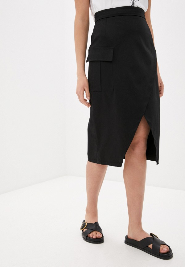 женская прямые юбка l'autre chose, черная