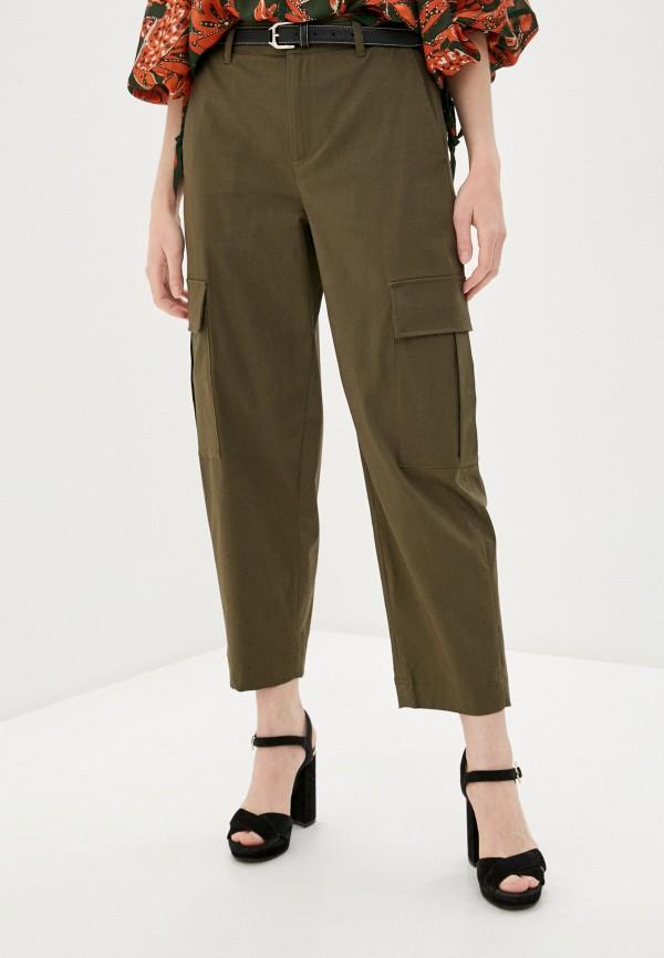 женские повседневные брюки l'autre chose, коричневые
