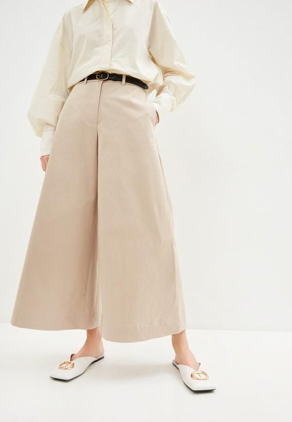 женские повседневные брюки l'autre chose, бежевые