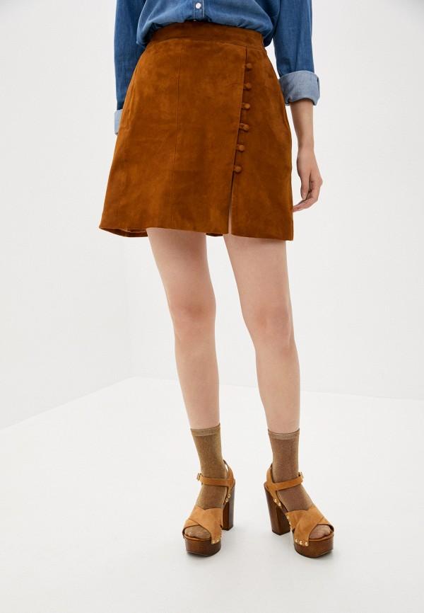 женская юбка l'autre chose, коричневая