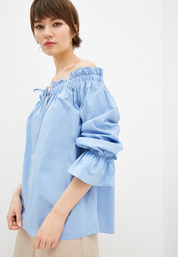 женская блузка l'autre chose, голубая