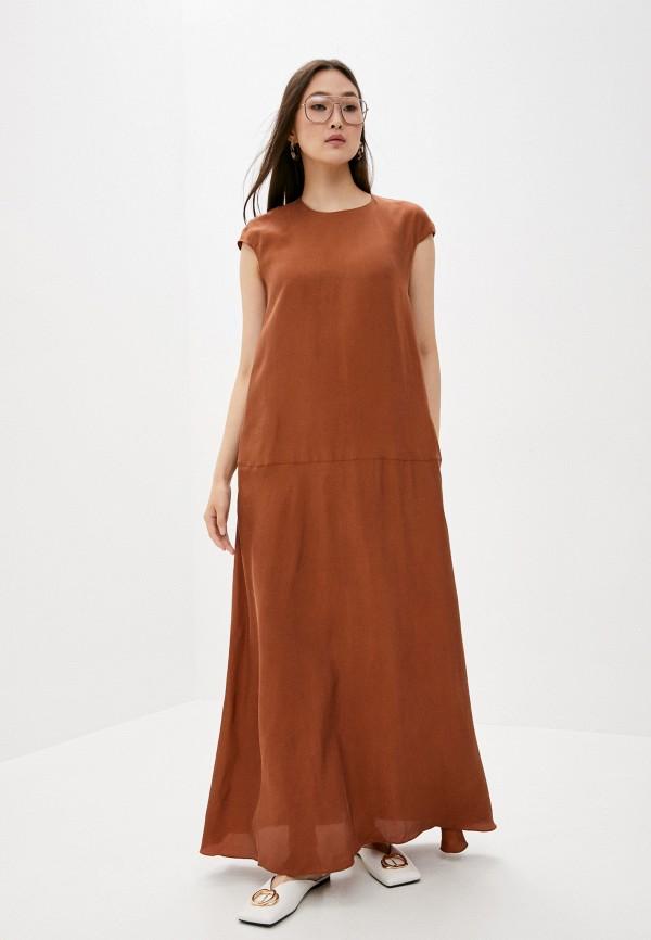 женское повседневные платье l'autre chose, коричневое