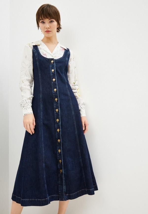 женское джинсовые платье l'autre chose, синее