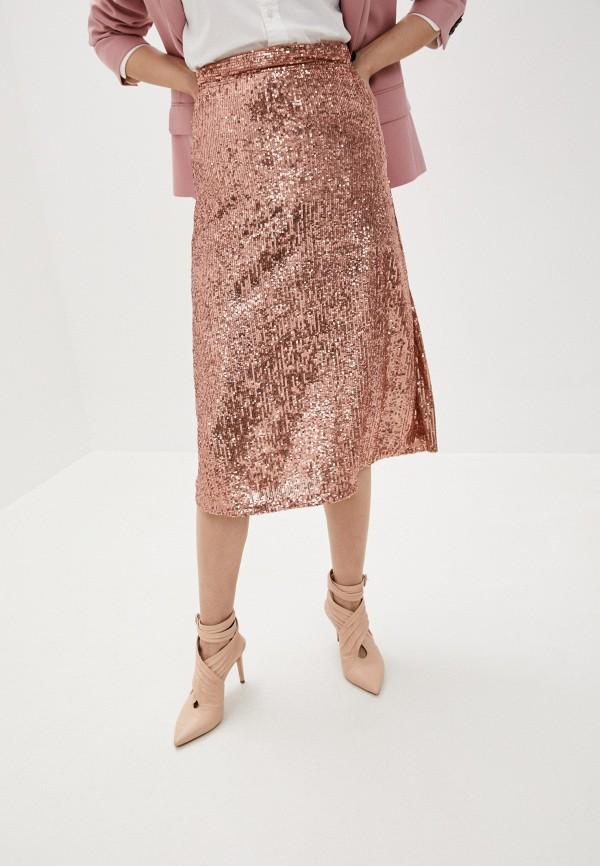 женская прямые юбка l'autre chose, розовая