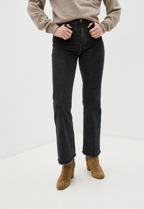 женские джинсы клеш l'autre chose, черные
