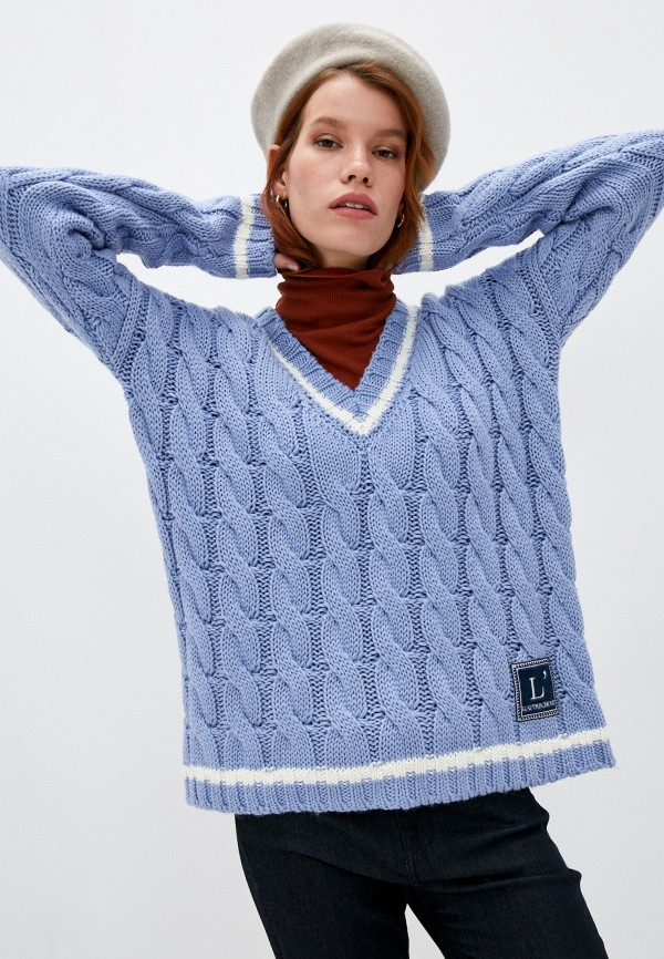 женский пуловер l'autre chose, голубой