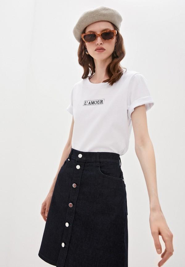 женская футболка l'autre chose, белая