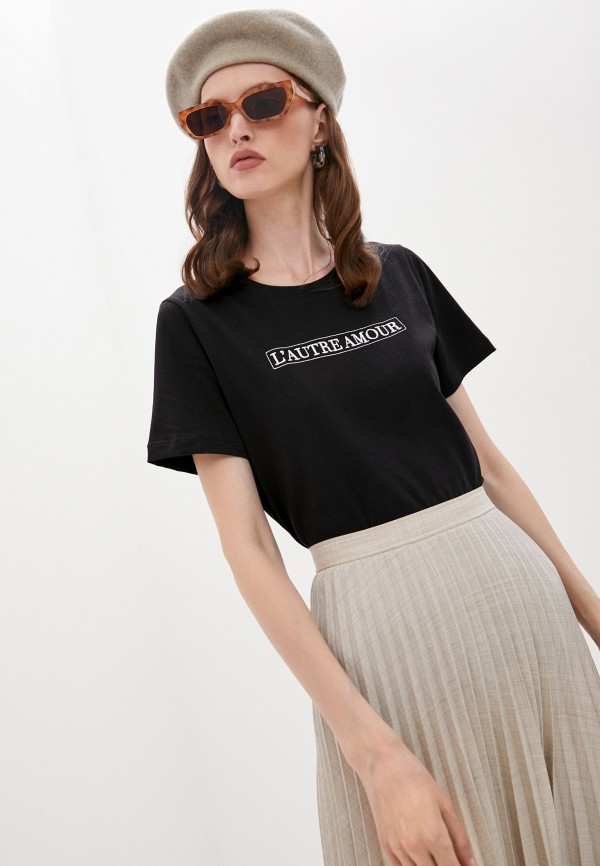 женская футболка l'autre chose, черная