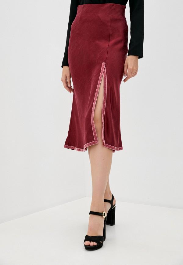 женская юбка l'autre chose, бордовая