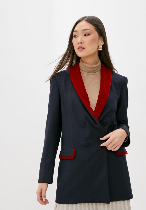 женский пиджак l'autre chose, синий