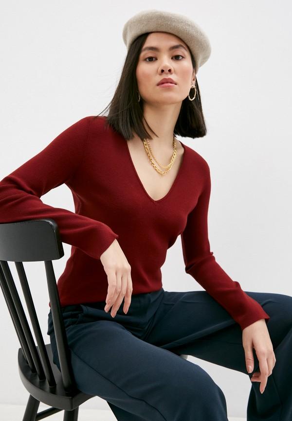 женский пуловер l'autre chose, бордовый