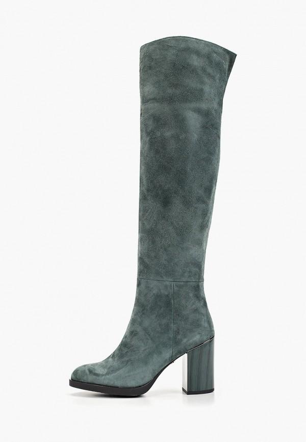 женские ботфорты laura valorosa, зеленые