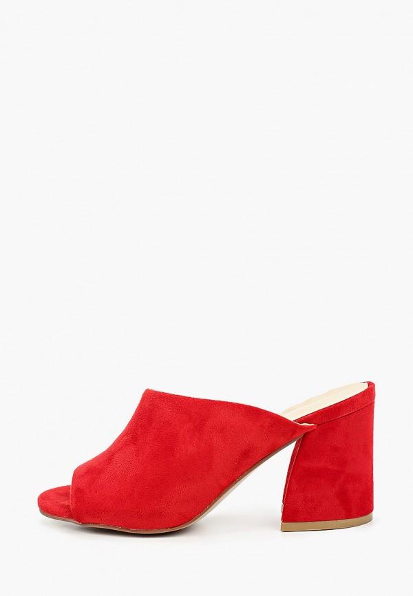 женское сабо super mode, красное