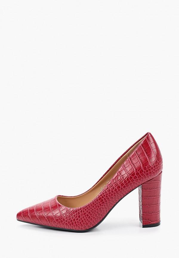 женские туфли super mode, бордовые