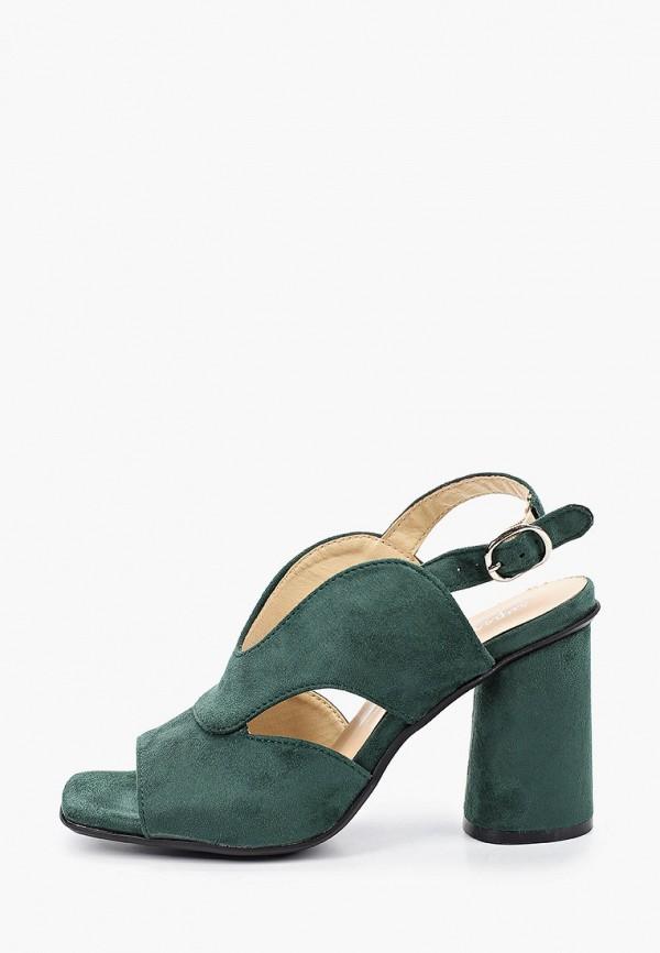 женские босоножки super mode, зеленые