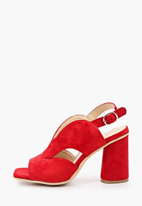 женские босоножки super mode, красные
