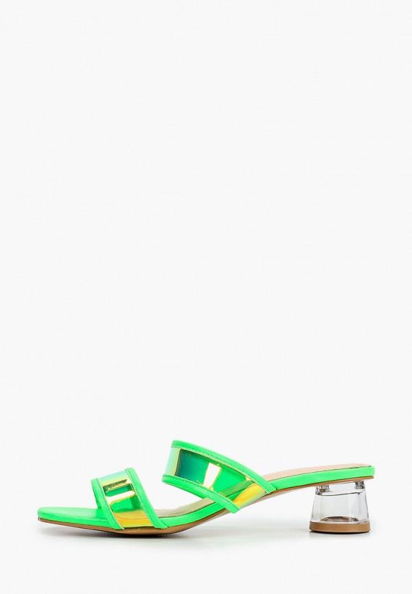 женское сабо l.day, зеленое