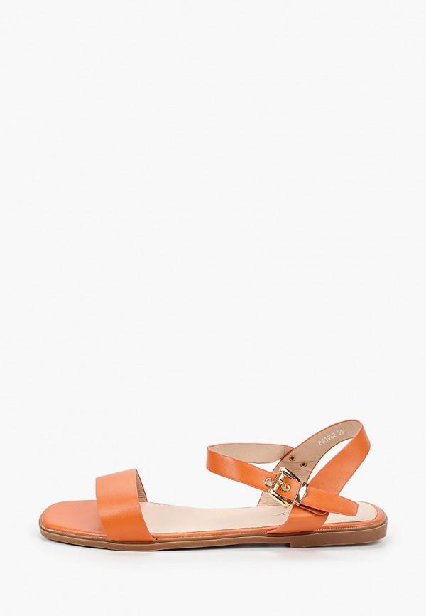 женские сандалии l.day, оранжевые