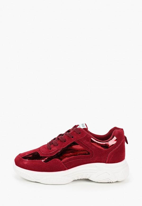 женские кроссовки l.day, бордовые
