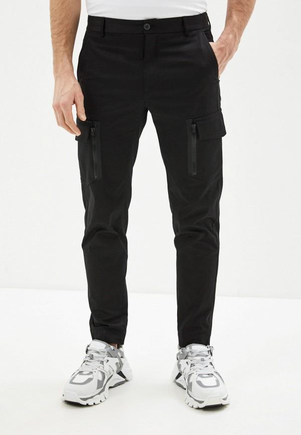 мужские повседневные брюки les hommes urban, черные
