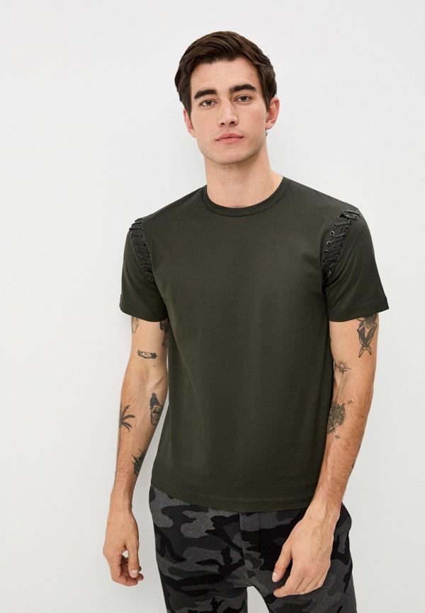 мужская футболка les hommes urban, зеленая