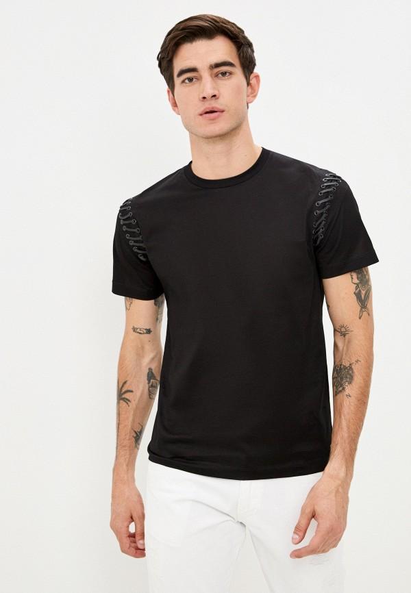 мужская футболка les hommes urban, черная