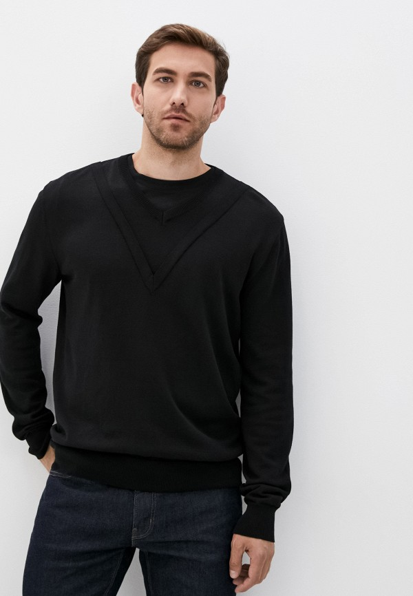мужской пуловер les hommes urban, черный
