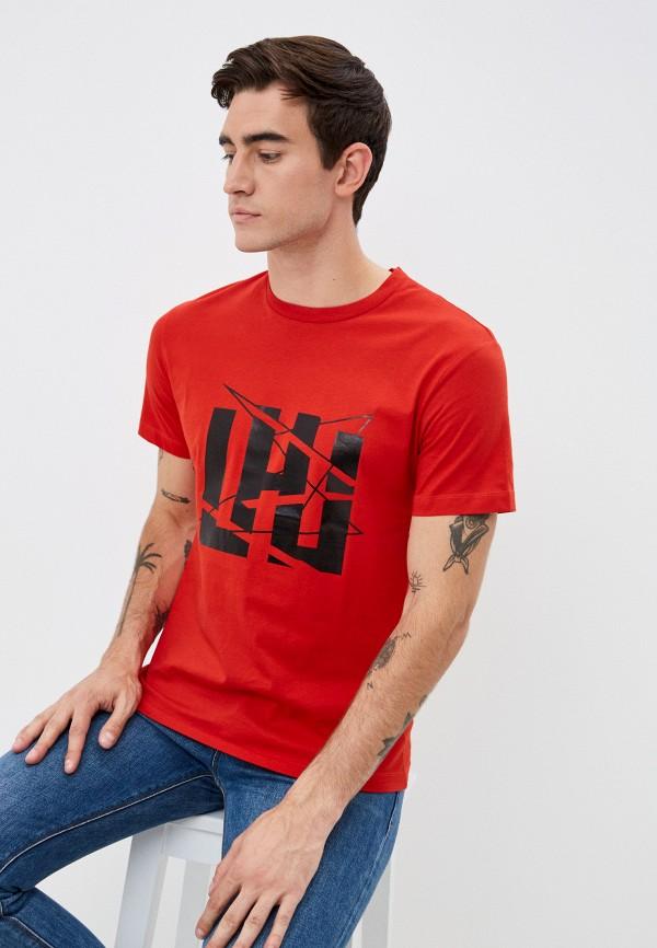 мужская футболка les hommes urban, красная