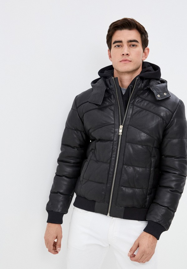 мужская куртка les hommes urban, черная