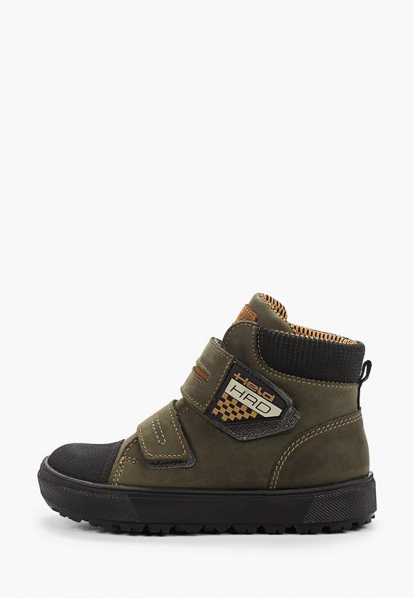 ботинки лель для мальчика, зеленые