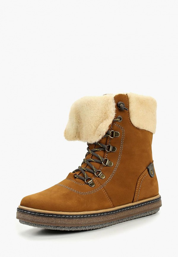 ботинки лель для девочки, коричневые