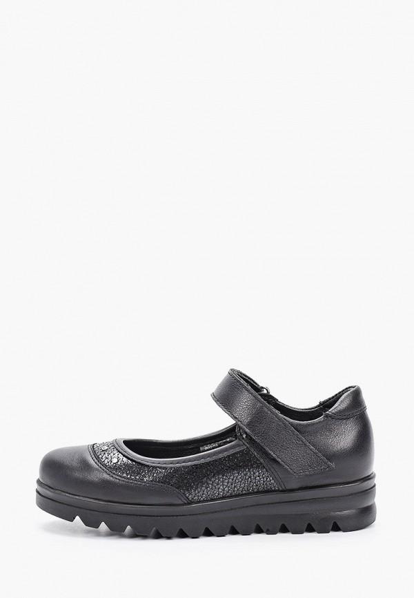 туфли лель для девочки, черные