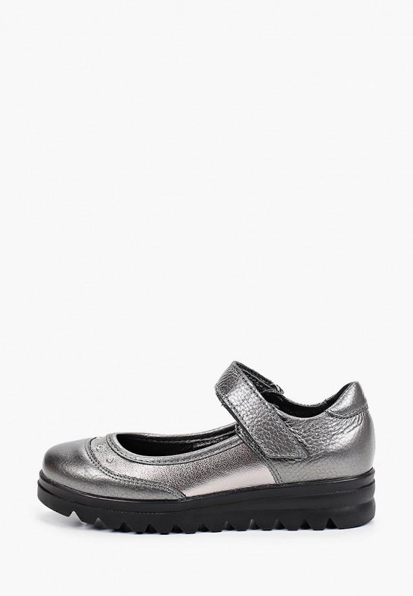 туфли лель для девочки, серебряные