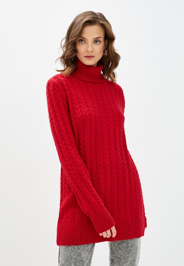 женский свитер lenavi, красный