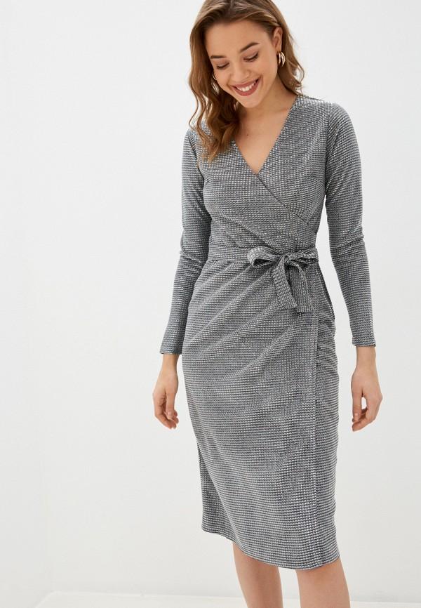 женское вечерние платье lenavi, серебряное