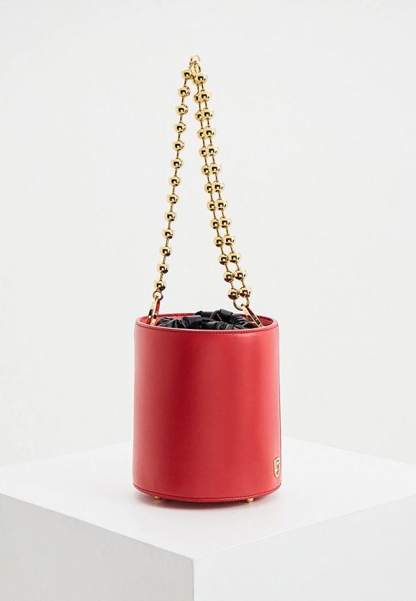 женская сумка les petits joueurs, красная