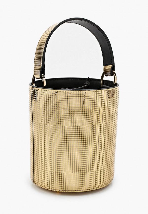 женская сумка les petits joueurs, золотая