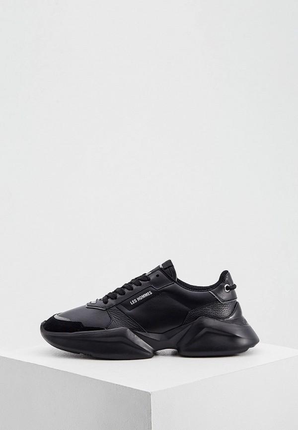 мужские кроссовки les hommes, черные