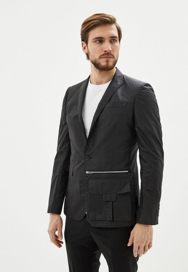 мужской пиджак les hommes, черный