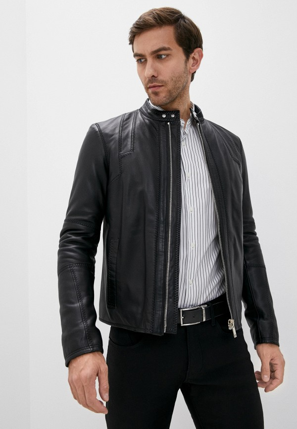 мужская куртка les hommes, черная