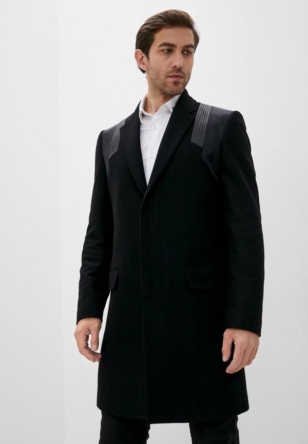 мужское пальто les hommes, черное