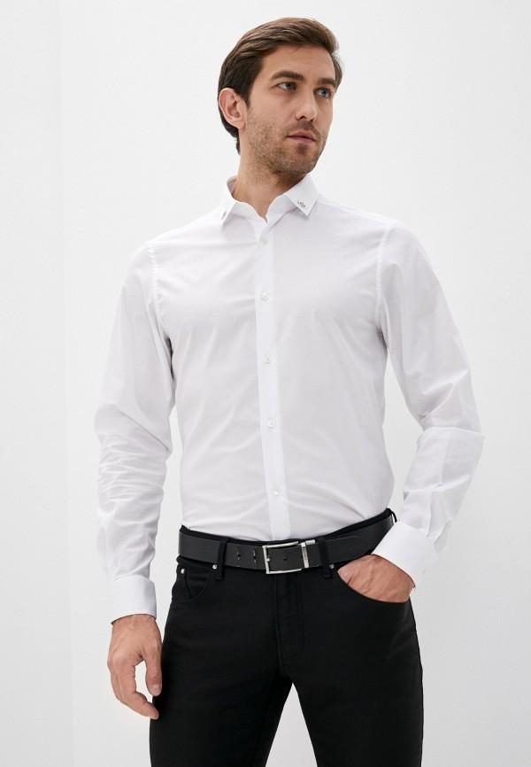 мужская рубашка с длинным рукавом les hommes, белая