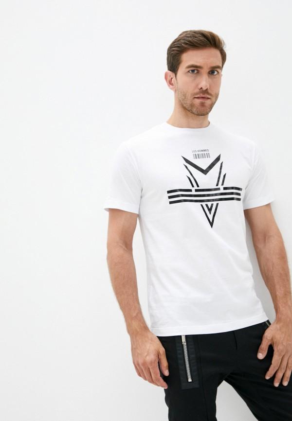 мужская футболка les hommes, белая