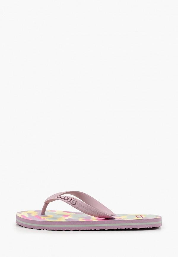 женские сланцы levi's®, фиолетовые